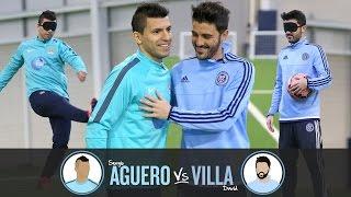 Blind Penalty Shoot-out   AGUERO v VILLA   Challenge 1