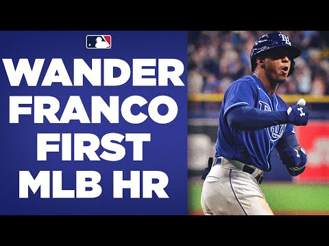 WANDER FRANCO HAS ARRIVED! GAME-TYING 3-RUN HOMER FOR FIRST MLB HIT!