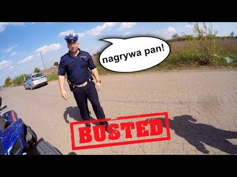 "Policjant pyta mnie ""Co pan sadzi o Yamaha Raptor 700!"" - Busted by the police - EPIC FAIL"