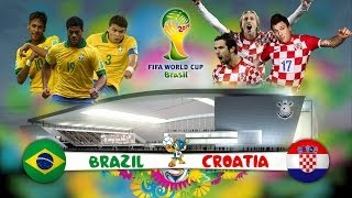 FIFA 14 World Cup 2014 Brazil Vs Croatia | FIFA 14 PS4 Copa del Mundo 2014