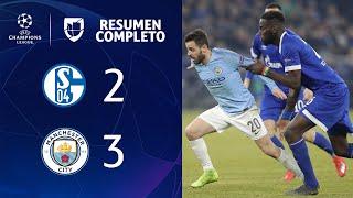 Schalke 2-3 Manchester City  – GOLES Y RESUMEN COMPLETO – IDA OCTAVOS DE FINAL – UEFA Champions Leag