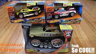 Toy Cars and Trucks: Hot Wheels Flash Drifter and Road Rippers Monster Truck Unboxing