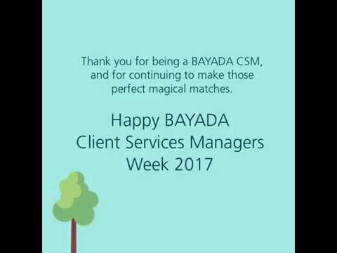 Happy Client Services Manager (CSM) Week!
