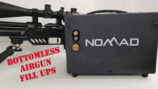 BOTTOMLESS Airgun Air - Nomad 2 / Home / 12V Mobile Compressor - PCP Unlimited Power