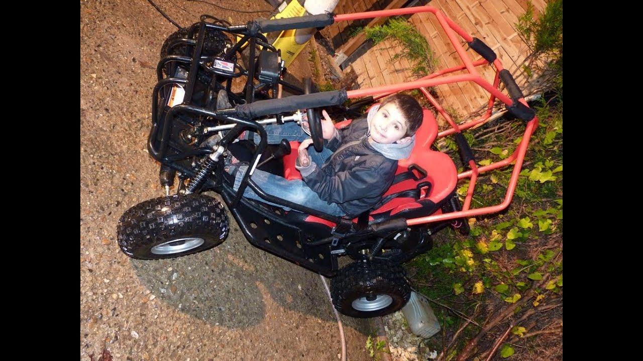 buggy enfant dazon 90cc 4 temps raider mini 90 kart karting cross vendu youtube. Black Bedroom Furniture Sets. Home Design Ideas