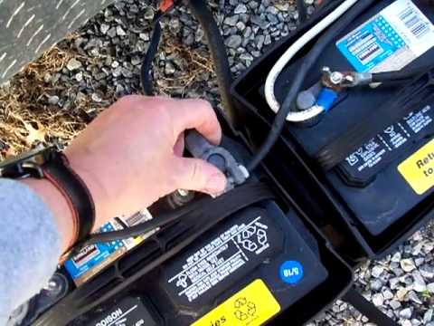 How To Hook Up Two Batteries On A Travel Trailer Youtube