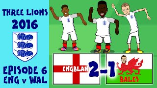 442OONS FRANCE EURO 2016 HIGHLIGHTS: England 2-1 Wales: Bale, Vardy and Sturridge goals!