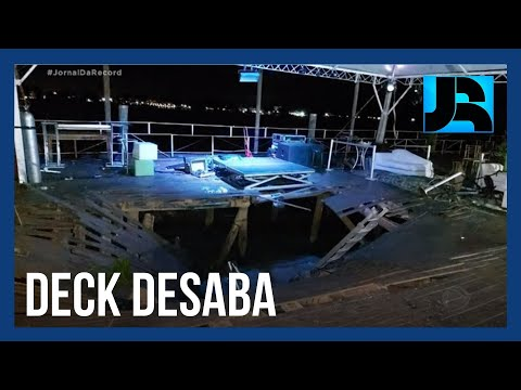 Jovem de 26 anos morre em desabamento de deck durante festa em marina de Porto Alegre (RS)
