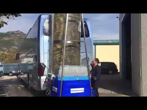 Como Lavar un Autobús en 2 minutos con monocepillo baterias JMB