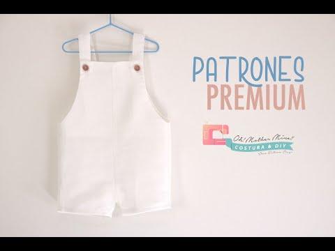 Patrones PREMIUM: Peto de lino para niños (tallas de 3 meses a 6 años)