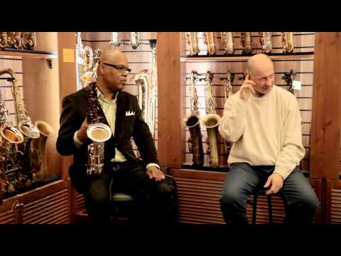 "Greg Osby clinic in Moscow, Russia, sax boutique ""Bird"""