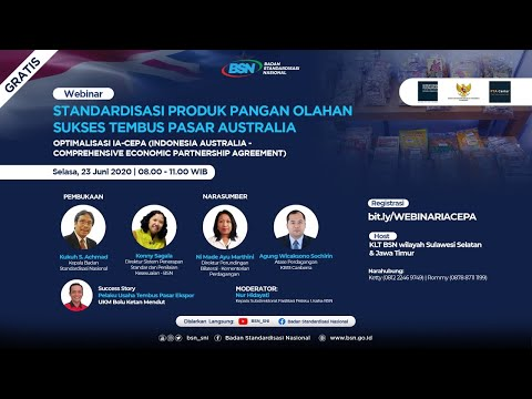 https://youtu.be/LohN23Y17skStandardisasi Produk Pangan Olahan Sukses Tembus Pasar Australia