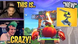 Streamers First Time Using *NEW* Mounted Turret! - Fortnite Best and Funny Moments