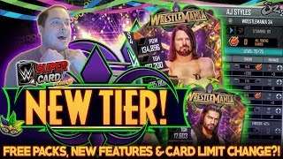 WRESTLEMANIA 34 TIER! EVERY NEW CARD, FREE PACKS & CARD LIMIT INCREASE?! | WWE SuperCard S4