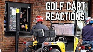 Street Legal Golf Cart Reactions   Drive Through, Parts Store!