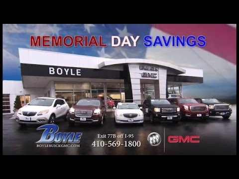 Boyle Buick GMC Memorial Day Tent Sale