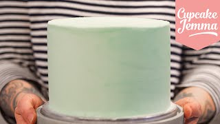 Masterclass: How to Decorate a Layer Cake with Smooth Buttercream Icing | Cupcake Jemma