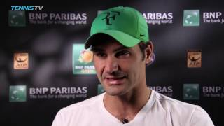 Day 9 Interview: Federer 'Looking Forward' to Nadal Clash