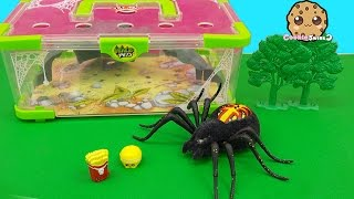 Shopkins Visit Interactive Attack Wild Pets Exclusive Spider In Cage Habitat at Zoo - Cookieswirlc