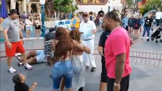 Family fight at Disneyland(warning language and violence)