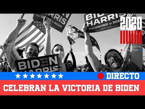 EN DIRECTO 🔴 Movilizaciones en EEUU tras la victoria de BIDEN  | RTVE Noticias