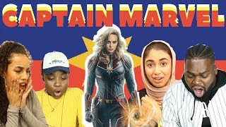 BRITISH PEOPLE REACT TO CAPTAIN MARVEL OFFICIAL TRAILER