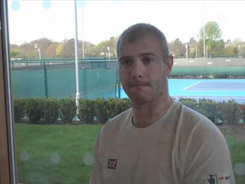 British Tennis Wheelchair player Marc McCaroll