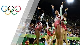 USA dominates to win gold in Women's Team Artistic Gymnastics