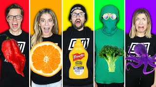 Eating Only One Color Food For 24 Hours Challenge - Game Master Network