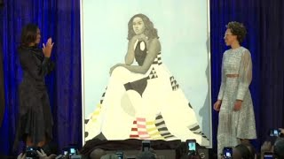 Michelle Obama portrait unveiled at National Portrait Gallery