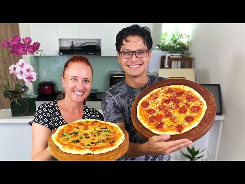 Готовим вместе Домашняя пицца Маргарита Пепперони и еще одна вкуснейшая Люда Изи Кук homemade pizza