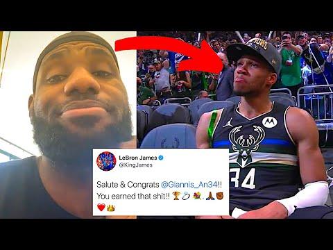 NBA PLAYERS REACT TO MILWAUKEE BUCKS WINNING NBA CHAMPIONSHIP 2021 | GIANNIS REACTIONS (LeBron etc)