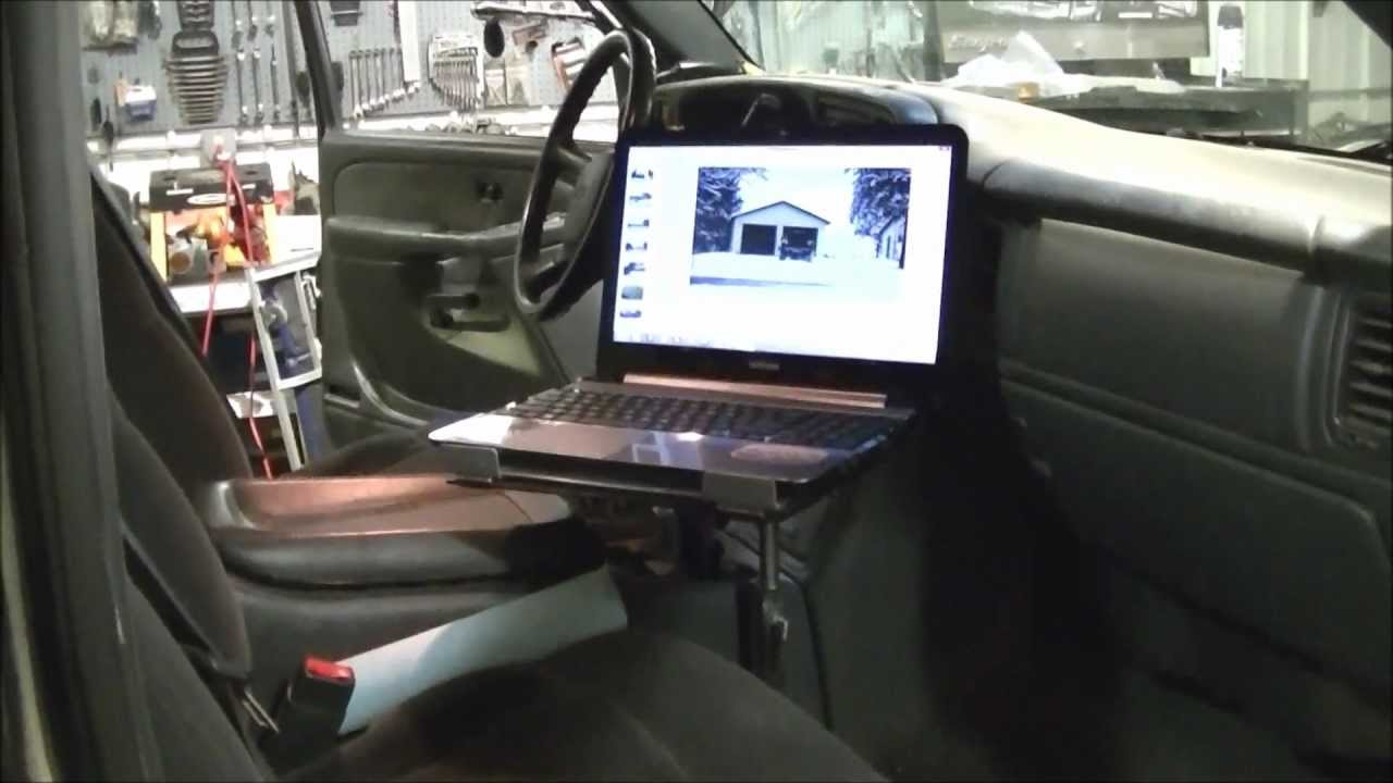 "Laptop Truck Mount ""Part 1"" for My 02 Chevy Silverado 3500 ..."