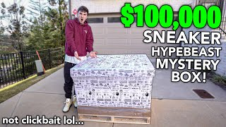 Unboxing The First Ever $100,000 Hypebeast Mystery Box...
