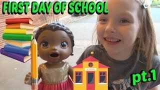 BABY ALIVE goes to SCHOOL pt 1. The Lilly and Mommy Show! The TOYTASTIC Sisters. FUNNY SKIT