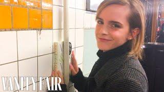 Emma Watson Hides Books Around the New York City Subway | Vanity Fair