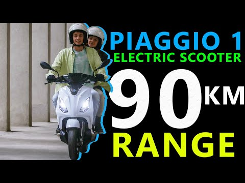 Piaggio 1 Electric Scooter Range, Price and Launch Details