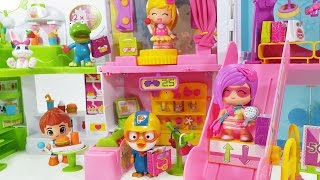 피니폰 쇼핑센터 햄버거 헤어 악세사리 스낵바 가게 인형놀이 쇼핑놀이 뽀로로 장난감 Pinypon doll shopping center shop Toy pororo