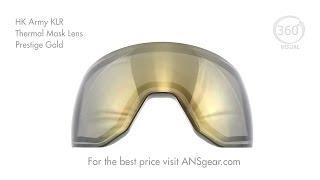 HK Army KLR Thermal Mask Lens - Prestige Gold