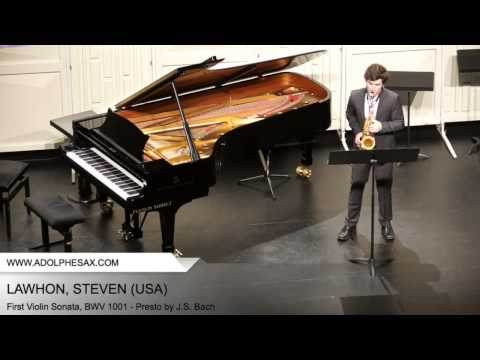 Dinant 2014 - Lawhon, Steven - First Violin Sonata, BWV 1001 - Presto by J.S. Bach