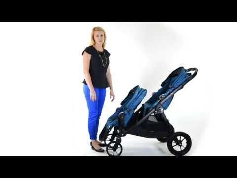 How to fold the City Select stroller when it is a double stroller