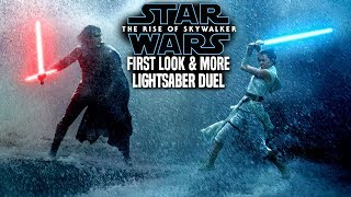 The Rise Of Skywalker First Look At Lightsaber Duel! Kylo Vs Rey (Star Wars Episode 9)