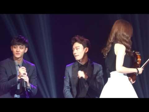 20140922 Zhang Liyin, Chen and Tao (EXO) @ Zhang Li Yin showcase in Beijing part 2/2