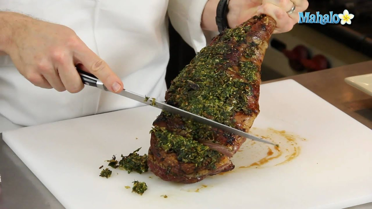 How to Carve a Leg of Lamb - YouTube