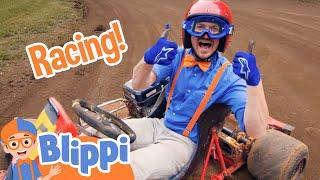Blippi's Go Kart Race + More Blippi Videos For Kids | Educational Videos For Children