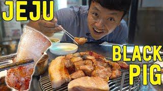 KOREAN BBQ SPECIAL: BBQ Black Pork in Jeju South Korea