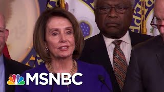 White House Speaker Nancy Pelosi After White House Meeting: 'I Pray For The President'   MSNBC