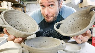 How to make a BERRY BOWL!! Clay, Pottery, Ceramics Tutorial!