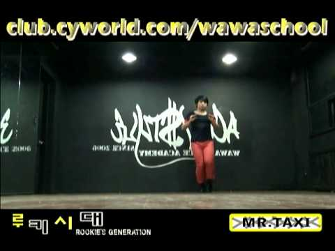 WAWA DANCE ACADEMY GIRL'S GENERATION SNSD MR.TAXI DANCE STEP MIRRORED MODE