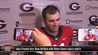 Jake Fromm less than thrilled with Notre Dame faking injuries